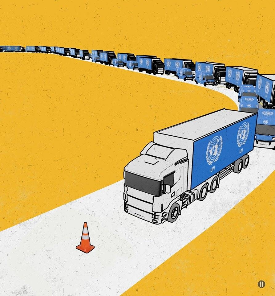 Tell the UN to drive aid into Syriaimage