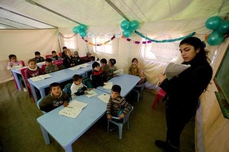 Tent School Offers Hope to Syrian Child Refugees in Lebanonimage