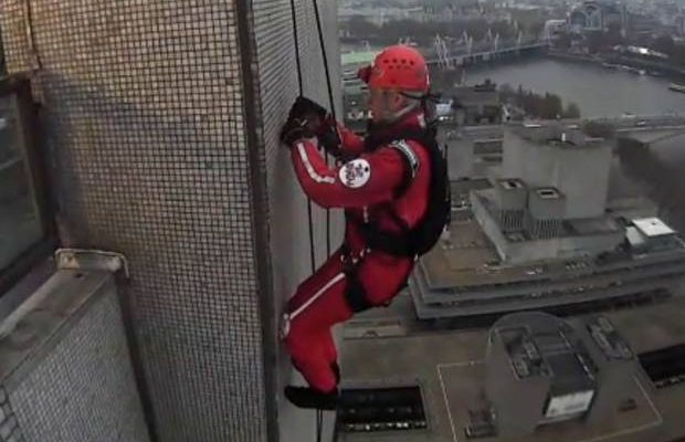 Phillip Schofield descend down London tower block for charityimage