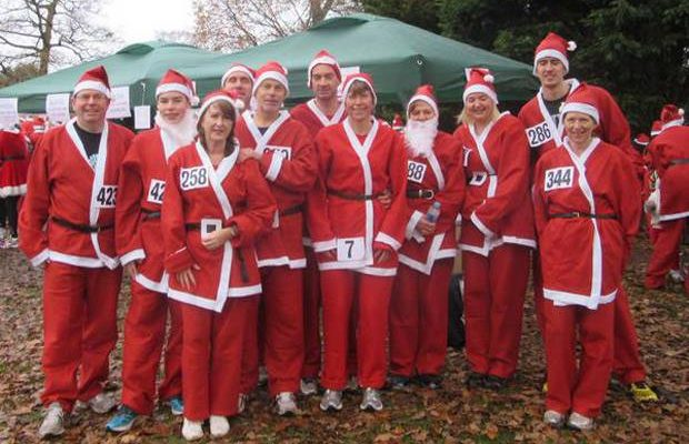Hundreds of Santas join forces for south London charity runimage