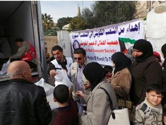 Kuwait Red Crescent Society Distributes 140 tons of aid to Syrian refugees in Jordanimage