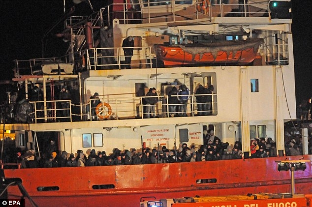 smugglers earned £2m from piloting second abandoned ship to Italyimage