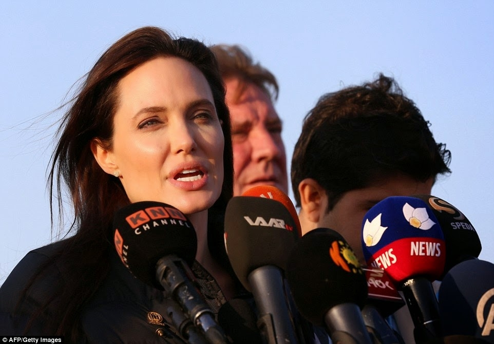 Angelina Jolie visited northern Iraq to promote awareness of the deteriorating conditions in refugee campsimage