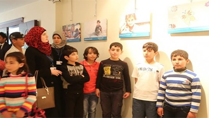 Life through Syrian children's eyes on displayimage