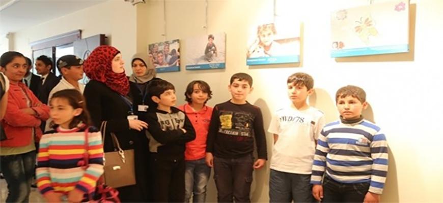 Life through Syrian children's eyes on displayimage