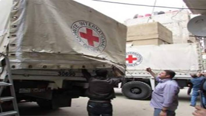 International Red Cross team in Bebela, Beit Sahem and Yaldaimage