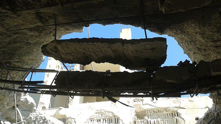Barrel bomb attacks on One of Anamel Mosaic Schools – Homs Suburbimage