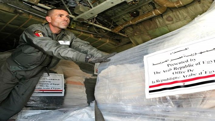 Egypt Donates Three Aid Shipments to Syrian Refugees in Arsalimage