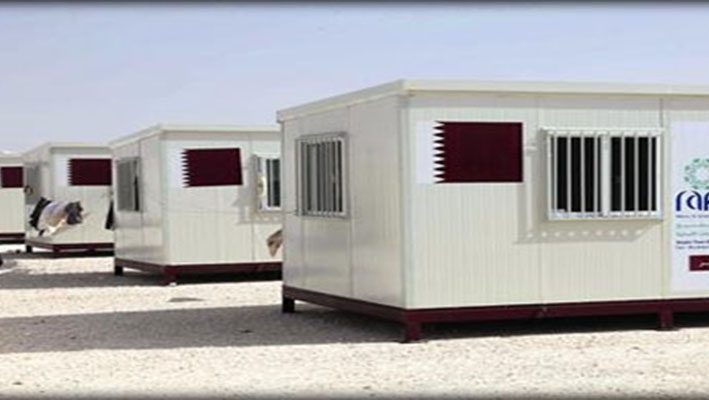 100 Caravans for Syrian refugees in Zaatari campimage