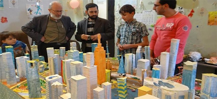 A Syrian Child Creates a 3D Design for Aleppo Cityimage