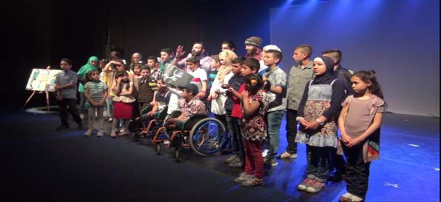 Children provide a silent play about their experience with pain in Syriaimage