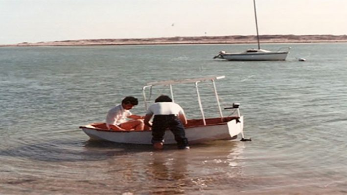 The first solar-powered boat invented by a Syrian engineerimage