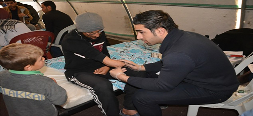 Medical Society distributes medical aid to disabled Syrian in Sanli Urfaimage