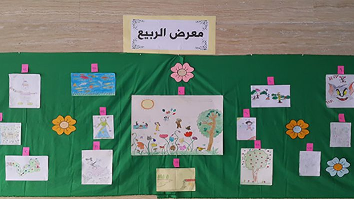 Al-waer Spring stems from the gallery children's drawingsimage