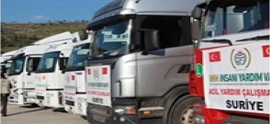 Turkish relief sent four trucks to Syriaimage
