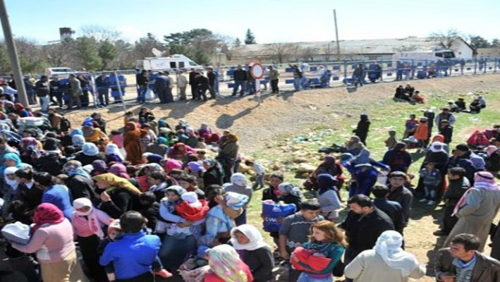 More than a thousand Syrian had fled to Turkey, to escape the clashes in Ras Al Ainimage