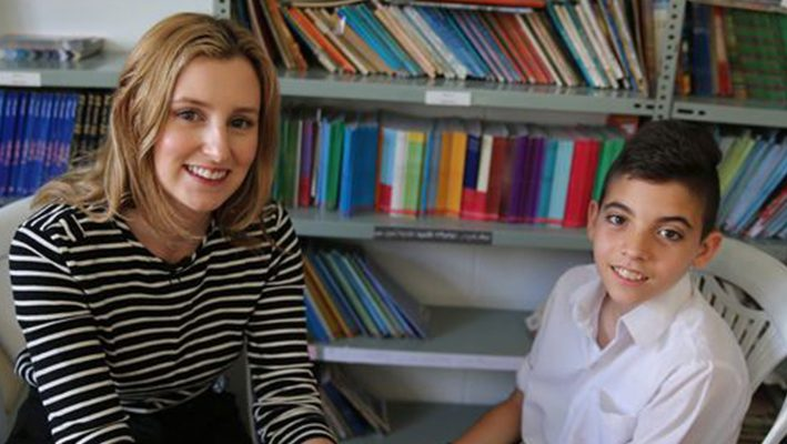 Downton's Lady Edith helps Syria's refugee children catch up on lost educationimage
