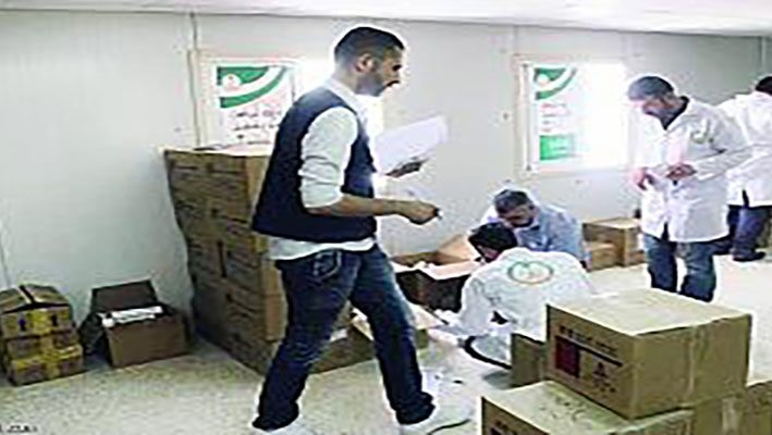 Medicines and medical supplies for Syrian refugees from Saudi Arabiaimage