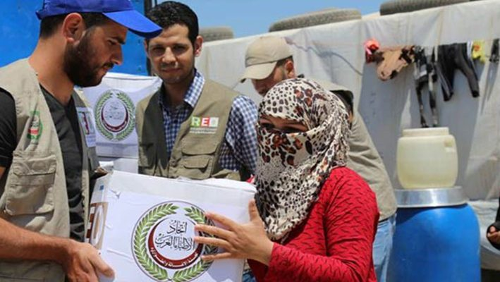 """Arab Doctors"" distributed six thousand food parcels to Syrian refugeesimage"