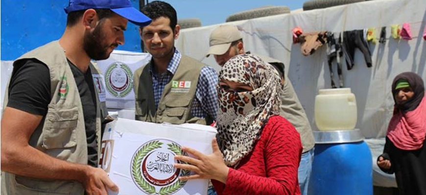 """""""Arab Doctors"""" distributed six thousand food parcels to Syrian refugeesimage"""