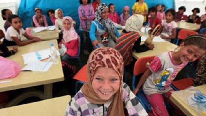 Overcrowding in Zaatari schools.. Problem needs solutionsimage