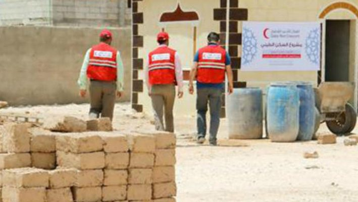 """Qatari Crescent"" implemented mud houses projects for the displaced Syriansimage"