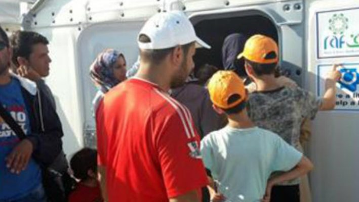 """Raf"" continue to provide aid for Syrians fleeing to Europeimage"