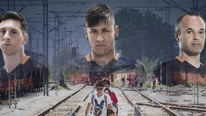 FC Barcelona present campaign to aid refugees in Europeimage