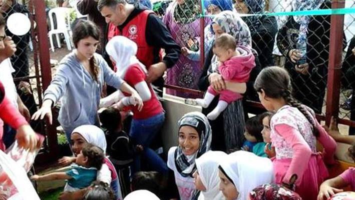 Kuwait Red Crescent opens playground for Syrian children in Lebanonimage