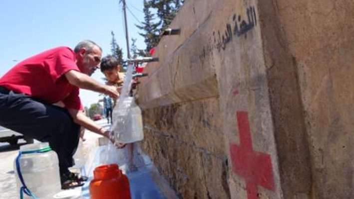 Syrians discover new use for mobile phones – finding waterimage