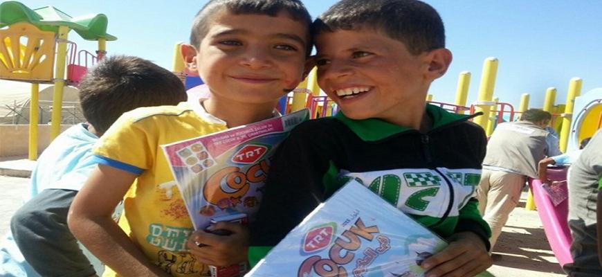 Turkish magazine in Arabic for Syrian children in campsimage