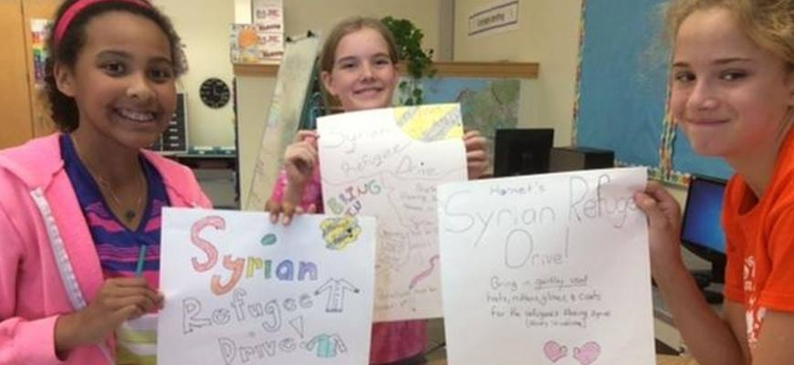 Westboro sixth-graders collect winter clothing for Syrian refugeesimage